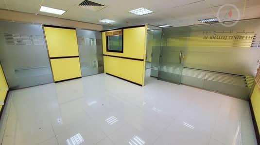 مکتب  للايجار في بر دبي، دبي - NO COMMISSION | PARTITIONED OFFICE