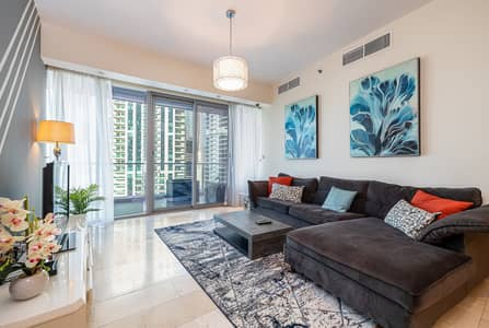 2 Bedroom Flat for Rent in Dubai Marina, Dubai - Partial Sea and Marina View 2 BR Holiday Home