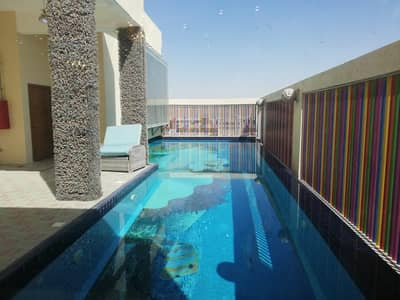 3 Bedroom Penthouse for Rent in Al Jurf, Ajman - Specious Furnished Penthouse/Villa For Rent With Swimming Pool In Al Jurf 3 - Ajman