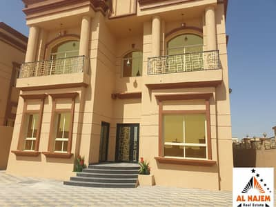 Selling a new villa opposite Camel Racecourse and the main street in Ajman, with the possibility of bank or cash financing
