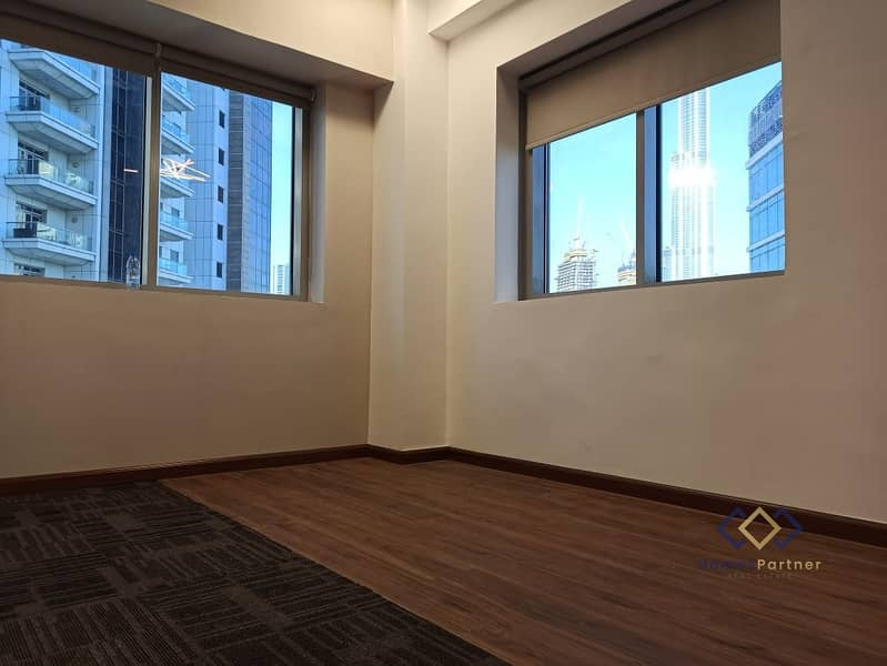 13 Fully Fitted-6 Partitions-Full Burj Khalifa View-Near Metro-Aspect Tower.