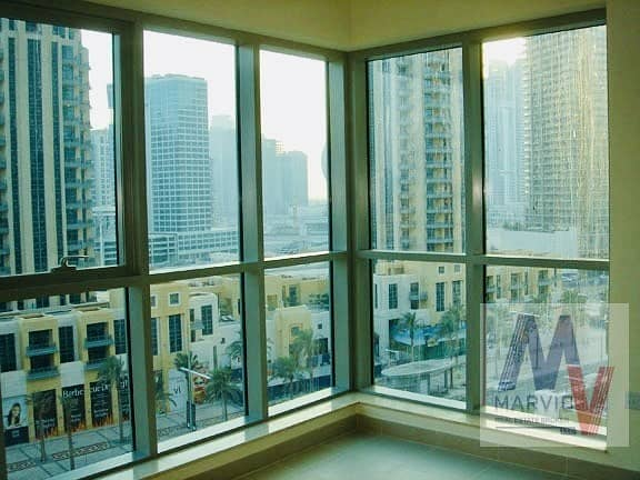 1 bed plus study with partial fountain view