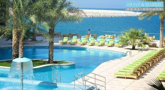 1 Bedroom Apartment for Rent in Al Marjan Island, Ras Al Khaimah - Furnished - Sea view with Hotel Facilities - Al Marjan Island