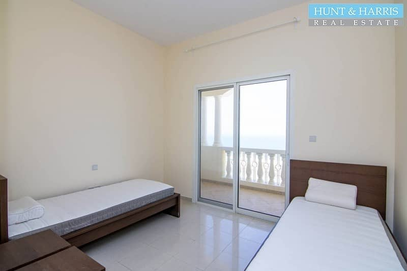 2 Fully Furnished -  2 Bedrooms - Amazing Sea View - High Floor