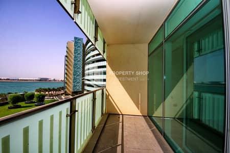 شقة 3 غرف نوم للبيع في شاطئ الراحة، أبوظبي - Elegant 3+Maid overlooking Garden & Sea View!