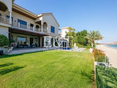 6 Bedroom Villa for Sale in Palm Jumeirah, Dubai - Upgraded Gallery View | Extended Plot | PJ