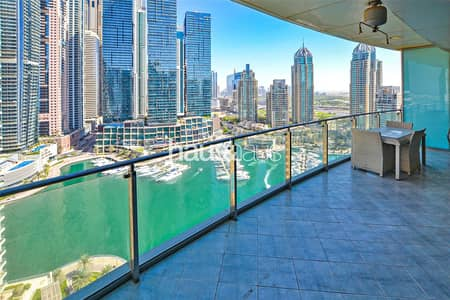 1 Bedroom Flat for Rent in Dubai Marina, Dubai - Full Marina view | Sea view | Large 1 bedroom