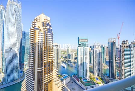 استوديو  للايجار في دبي مارينا، دبي - Fully Furnished | Studio | High Floor | Vacant