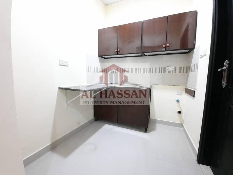 2 Monthly Rent Big Studio Separate Kitchen in Villa At MBZ City