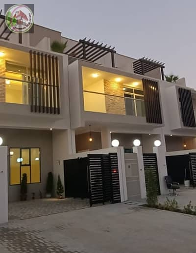 """5 Bedroom Villa for Sale in Al Zahia, Ajman - Modern villa for sale at an attractive price and as a privileged location, super deluxe finishing with the possibility of bank financing فتح في """"ترجمة Google"""""""