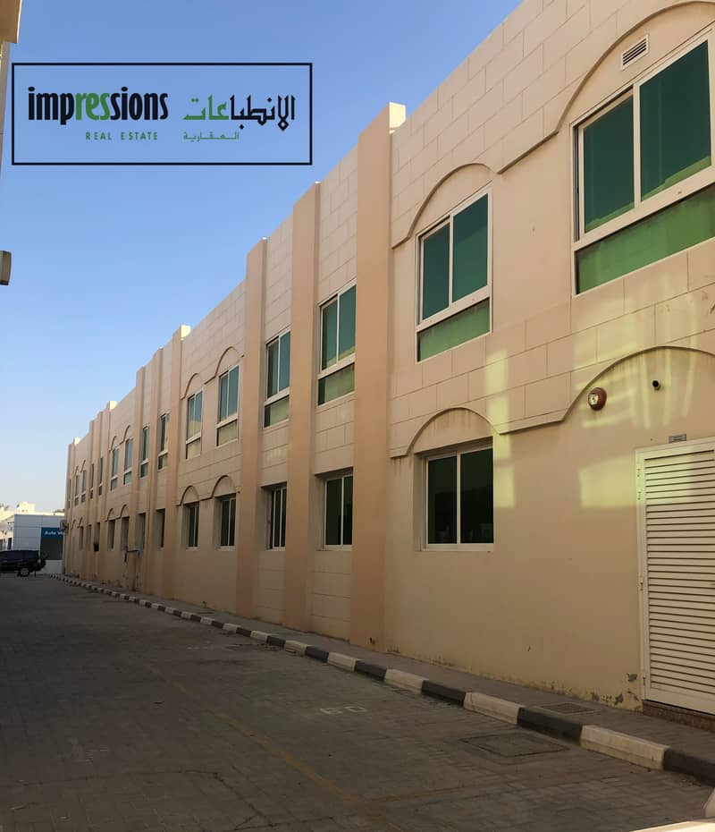 1 B/R hall flats with split central AC in Al Yarmook, near Jseco Supermarket - Sharjah