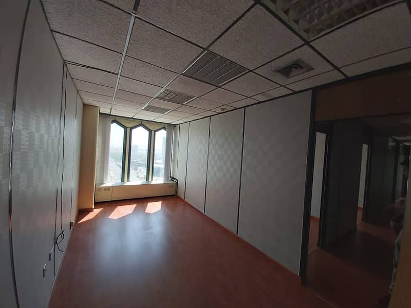 2 Big Office 1603 Sqft for 60 AED p.sqft Chiller Free Near 'union' Metro Sea Face Building
