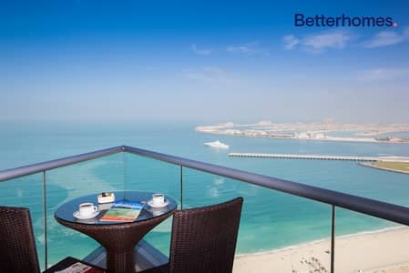 3 Bedroom Apartment for Rent in Jumeirah Beach Residence (JBR), Dubai - Full Sea | Serviced Apartment | Fully Furnished
