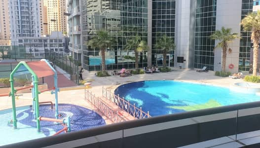 2 Bedroom Apartment for Rent in Dubai Marina, Dubai - Furnished 2 master bedrooms with pool view