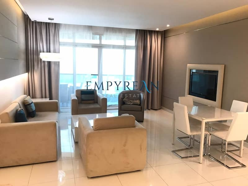 2 BURJ VIEW REDUCED Price Large Beautifully Fully Furnished 2 Bed in The Vogue Full Lake View