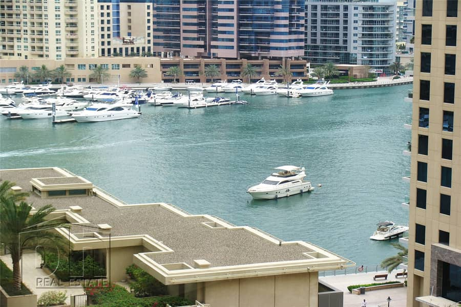 Full Marina View|3 Bedrooms |Unfurnished