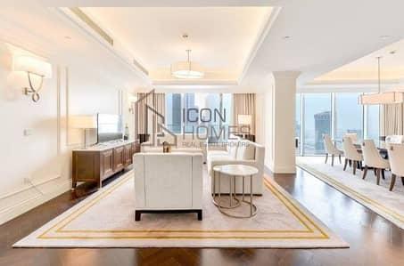 شقة 4 غرف نوم للايجار في وسط مدينة دبي، دبي - Luxurious fully furnished | with stunning burj & fountain view