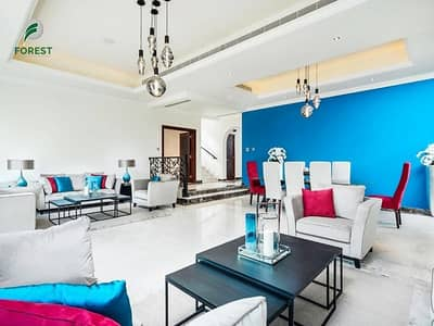 4 Bedroom Villa for Rent in Jumeirah Golf Estate, Dubai - Luxury Furnished 4BR Villa | Golf View | Vacant