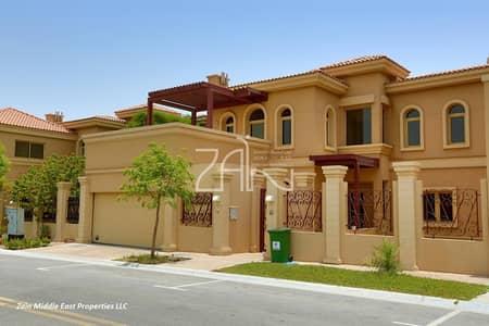 فیلا 4 غرف نوم للبيع في حدائق الجولف في الراحة، أبوظبي - Luxurious 4 BR Villa On Golf Course with Private Pool