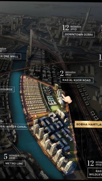 Apartment for sale 1 bed room view of Burj Khalifa and Water Canal