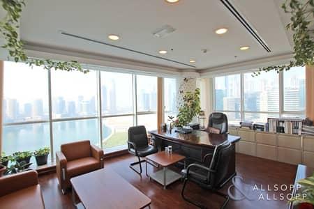 مکتب  للايجار في الخليج التجاري، دبي - High Quality   Full Lake Views   Furnished