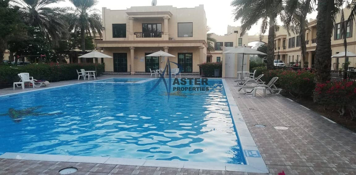 25 Stunning 4BR Villa|Maid Room|Shared Gym and Pool 24/7 Security