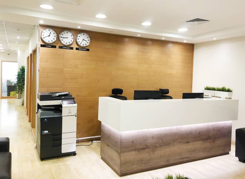 AED 25000 - 30000 | Furnished and Serviced Offices| Prime Location| Near Metro Station|No Commission
