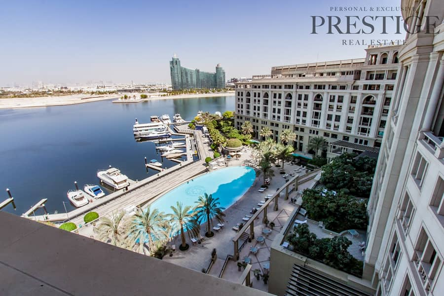 17 Pool & Marina Facing 1 Bed | VERSACE Furnished