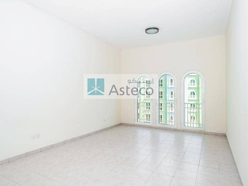 2 Big 18 Tile Studio with Balcony