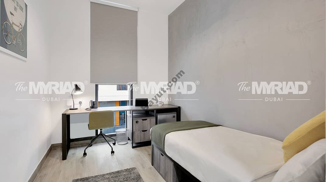 2 Student Accommodation | 'Single Room' - Female Block | The Myriad Dubai