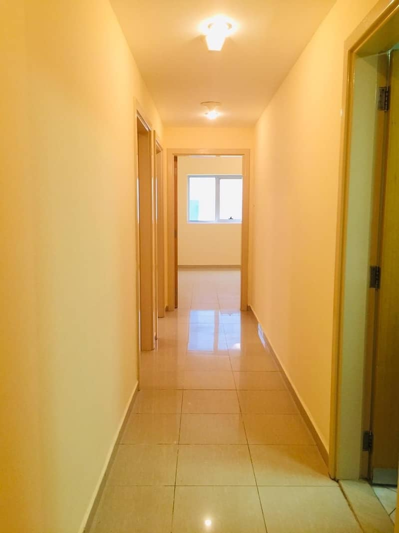 10 chiller + parking + 1 Month free .. Bigger 3bhk with wardrobe balcony maid room in family building just in 53k