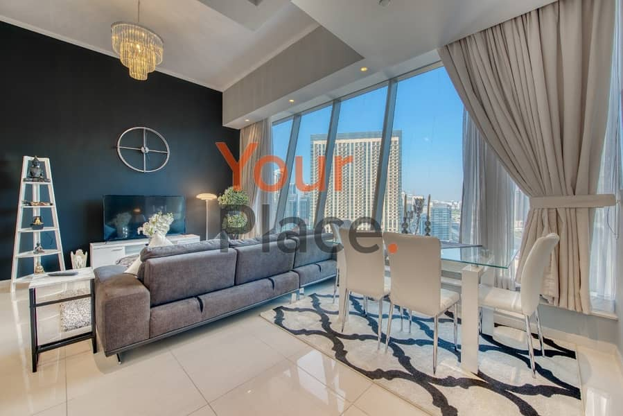 2 Exquisitely Furnished  - Next to Marina Mall