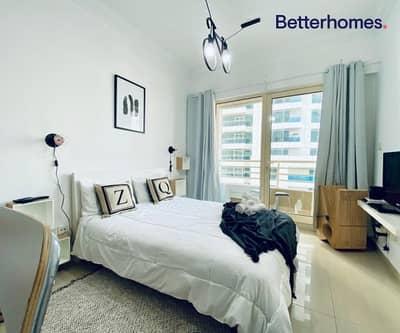 استوديو  للايجار في دبي مارينا، دبي - Furnished | Balcony | Low Floor | Chiller Free