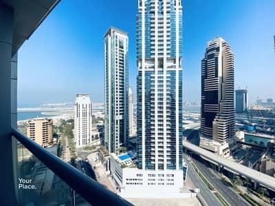 شقة 2 غرفة نوم للايجار في دبي مارينا، دبي - Sea View - Chiller Free - Fresh and Bright