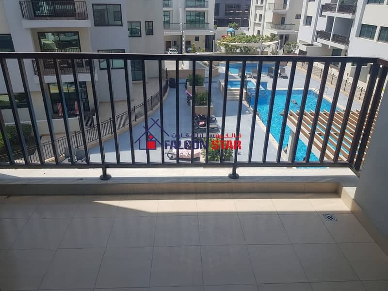 HIGH END FINISHING POOL & GARDEN VIEW -BRIGHT 1 BED WITH LAUNDRY ROOM