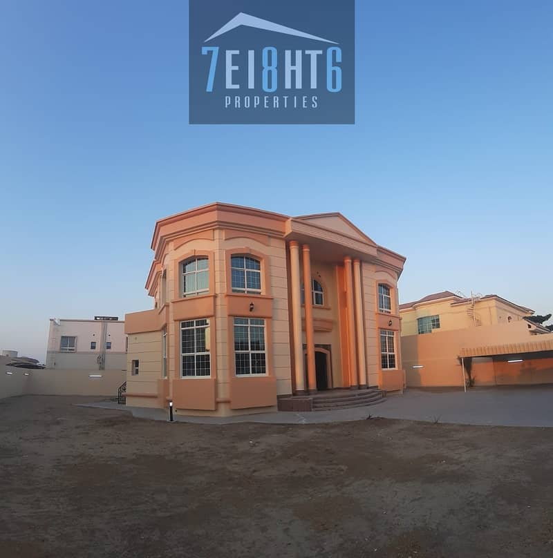 Amazing value: 5 b/r indep villa + maids room + large landscaped garden for rent in Warqaa 3
