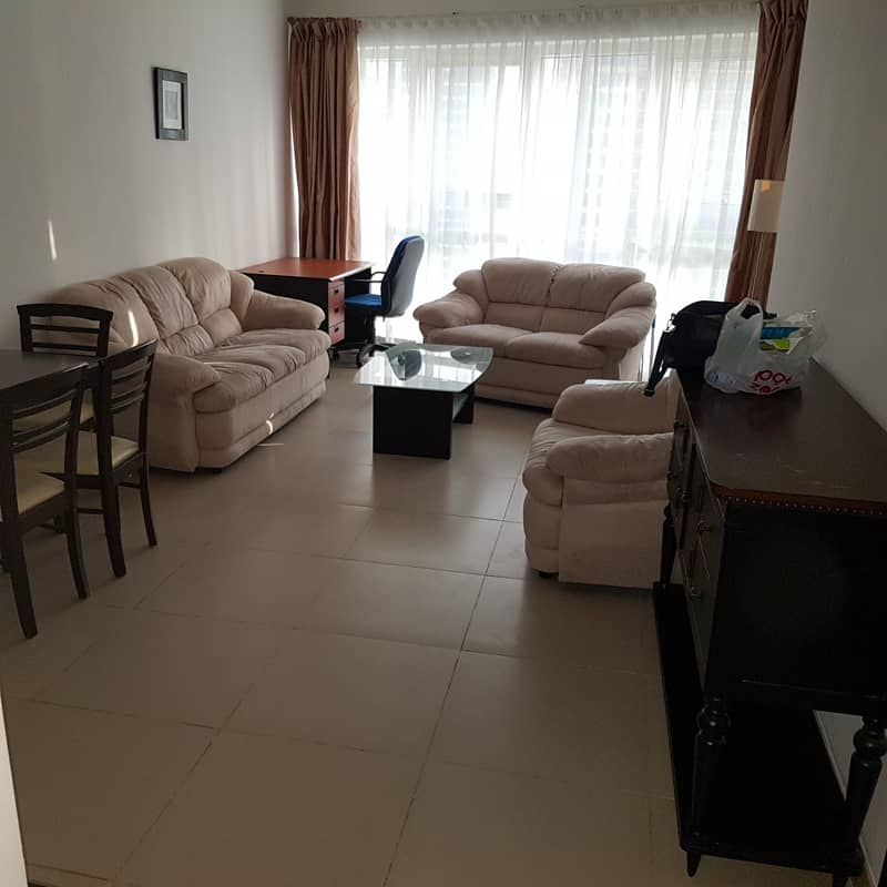 Fully Furnished 1 BHK, in Gold Crest Executive Tower JLT, Lake View