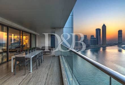 5 Bedroom Penthouse for Sale in Business Bay, Dubai - Full Floor with Dubai Canal and Burj Khalifa View