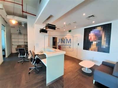 مکتب  للايجار في أبراج بحيرات الجميرا، دبي - Amazing Glass Partitioned and Furnished Office