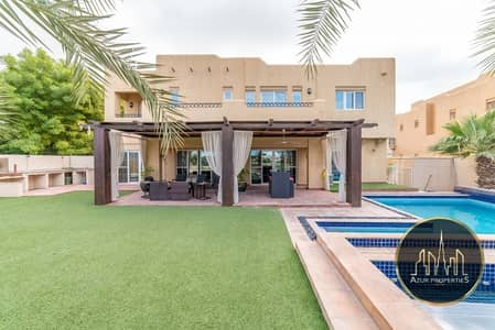 6 Bedroom Villa for Sale in Arabian Ranches, Dubai - Type 13 .6Br+ Maid  Full Golf Course View- Rented