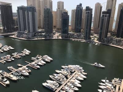 2 Bedroom Flat for Sale in Dubai Marina, Dubai - Rare 2 BR with Study - Full Marina View - VOT