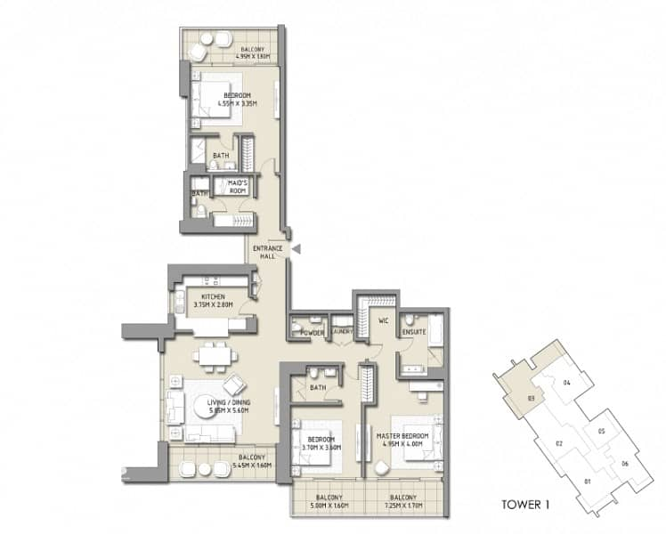 17 Biggest Layout High Floor Stunning Exclusive 3Bed