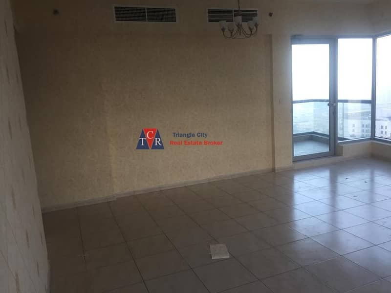 2 Vacant large corner 2 bed room sky court tower with balcony