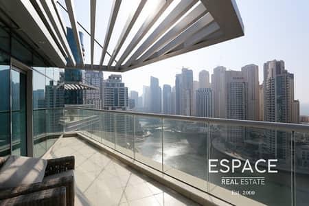 شقة 3 غرف نوم للايجار في دبي مارينا، دبي - Furnished - Large Balcony - Stunning View