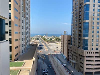 1 Bedroom Flat for Rent in Al Sawan, Ajman - 1 bhk closed kitchen open view in Ajman one tower