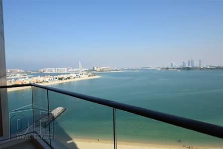 فلیٹ 1 غرفة نوم للايجار في نخلة جميرا، دبي - High Floor  | Furnished  | Sea Views  |