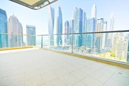 شقة 3 غرف نوم للايجار في دبي مارينا، دبي - Full Marina View | Best Layout | Huge Terrace