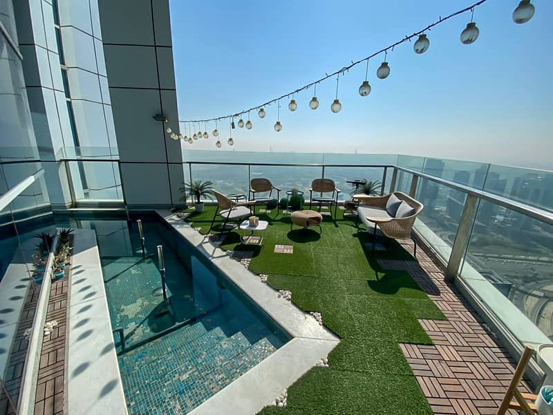 Stunning Sea and Palm View - Penthouse Duplex