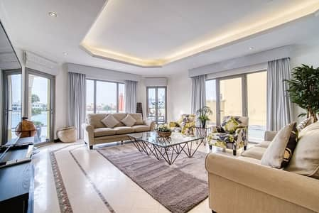 5 Bedroom Villa for Rent in Palm Jumeirah, Dubai - 5BR Laguna Beach/ Fully Furnished