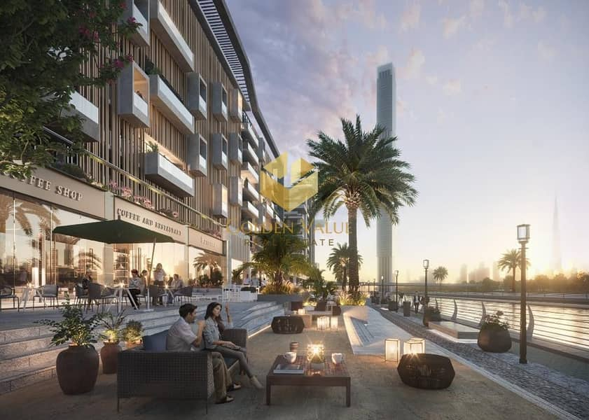 2 Invest in retail space Direct on the water canal perfect location opposite burj khalifa